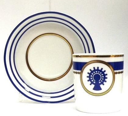 Чашка с блюдцем Кают-компания №5, ф. Гербовая ИФЗ 81.21408.00.1