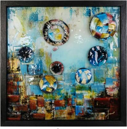 Картина стеклянная Top Art Studio Аква Вива 50x50см LG1224-TA