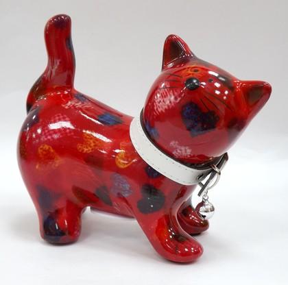 Копилка Pomme-Pidou Кошка Kitty красная с сердечками 148-00021/5