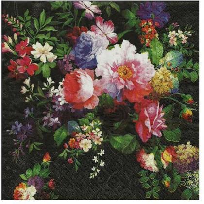 Салфетки для декупажа Роза на бархате, 33x33, 20шт Paw SDL090200