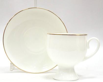 Чашка с блюдцем Золотая лента, ф. Классическая-2 ИФЗ 81.13881.00.1