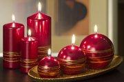 Свеча Золотые кольца, колонна 7x15см Bartek Candles 5907602663709