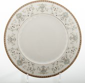 Набор тарелок Porcelaine Czech Gold Hands Голубой узор, 25см, 6 шт LUISA248GSTM25x6