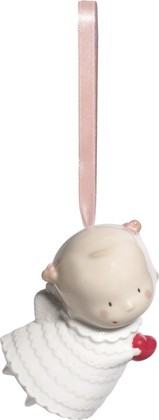 Ёлочная игрушка Чудесный Ангел (Pretty Little Angel) 10см NAO 02005088