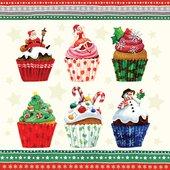 Салфетки для декупажа Paw Новогодние кексы, 20шт 33x33см SDL780000