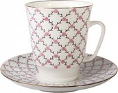 Кофейная пара ИФЗ, рисунок Розовая сетка, форма Майская 81.13631.00.1