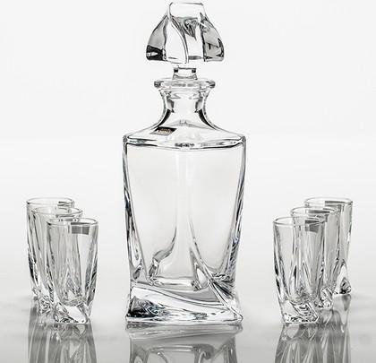 Набор для ликёра Квадро графин 500мл + 6ст. 50мл Crystalite Bohemia 99999/9/99A44/457S
