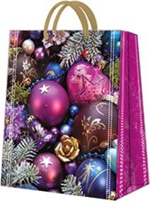 Пакет подарочный бумажный Paw Фиолетовая композиция 20x25x10см AGB031003