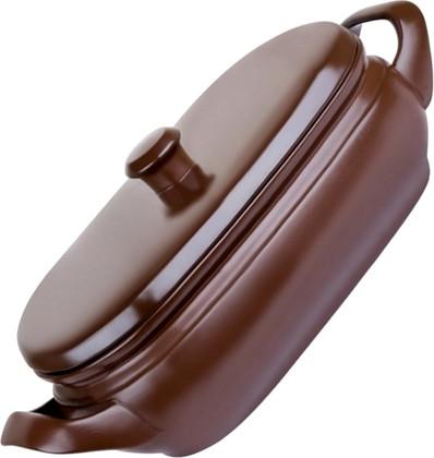 Ceraflame TERRINE Ёмкость для запекания с крышкой, керамика, 4,5л, цвет - шоколадный, артикул A4603545