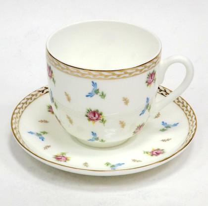 Чашка с блюдцем кофейная Цветочный вальс, ф. Ландыш2 ИФЗ 81.25992.00.1