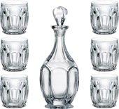 Набор для виски Crystalite Bohemia Сафари графин 800мл, 6 стаканов 250мл 99999/9/99R83/981