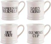 Кофейные кружки эспрессо KitchenCraft Stir It Up, 4шт 5174402