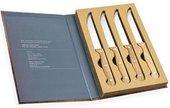 Набор ножей для стейка Andrea House Chrome and Wood CC16062