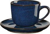 Чашка с блюдцем Asa Selection Saisons для эспрессо, 90мл, синий 27110/119