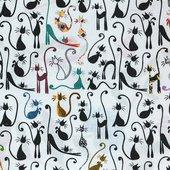 Скатерть Aitana Wain, 140x100см, водоотталкивающая, кошки WAIN/140100/cats