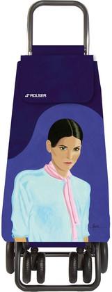 Сумка-тележка хозяйственная фиолетовая с рисунком Rolser LOGIC TOUR PAC094more/carla
