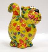 Копилка Pomme-Pidou Кошка, мини, жёлтый 11.5x6.8x11.7см 148-00248/C