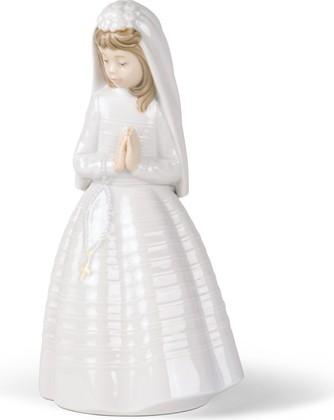 Статуэтка фарфоровая NAO Первое причастие (Girl Praying) 24см 02000236
