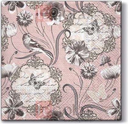 Салфетки для декупажа Викторианские цветы, 33x33, 20шт Paw SDL095100