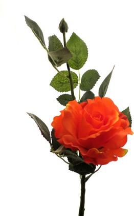 Роза Лимбо с почкой оранжево-красная 30см, живое прикосновение Atelier de Fleur WAF1157-TA