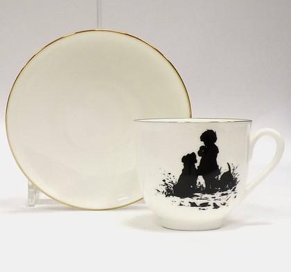Чашка с блюдцем Силуэты. Друзья, ф. Ландыш 81.15710.00.1