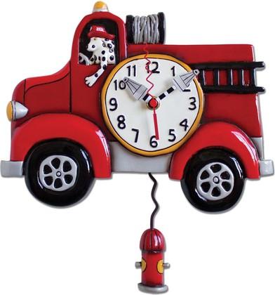 Настенные часы Пожарная машина, 33см Enesco P1306