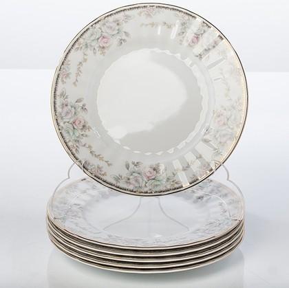 Тарелка десертная Porcelaine Czech Gold Hands Весенний букет, 19см LUISA14102TD19х1