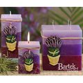 "Bartek Candles RUSTIC LAVENDER Свеча ""Лаванда"" - образ коллекции B, пирамида 70х70х240мм, артикул 5907602655926"
