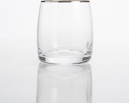 Стаканы для виски Crystalite Bohemia Идеал, 6шт., 290мл, платиновая полоска 25015/290/20732K