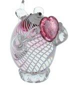 Фигурка стеклянная Top Art Studio Мышка Навсегда в моем сердце, 14x13см ZB2646-AG