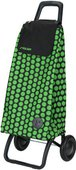 Сумка-тележка хозяйственная чёрно-зелёная Rolser RG MOUNTAIN MOU047verde/negro