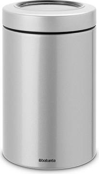 Контейнер с прозрачной крышкой 1.4л, серый металлик Brabantia 484568