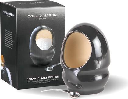 Солонка керамическая с ложечкой 14см, чёрная Cole&Mason H100169
