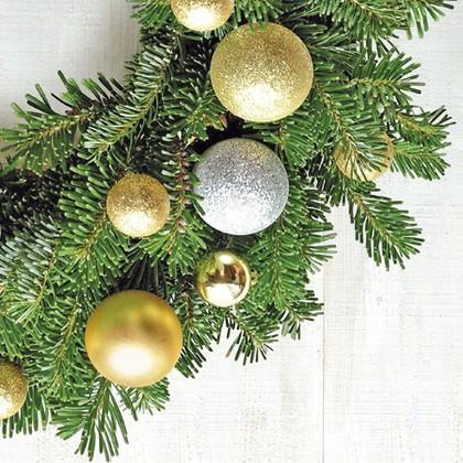 Салфетки Новогодние шары 3-сл., 20шт 33x33см Paw TL642000