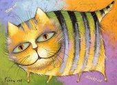 Набор подставок под тарелки Top Art Studio Счастливый кот 40х29см, 4шт, пробка GD2526-TA