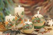 Свеча декоративная Bartek Candles Ваниль, колонна 7x14см 5901685031370