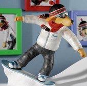 "Статуэтка ""Лабрадор сноубордист Тэм"" (TAM), 16см Enesco A21866"
