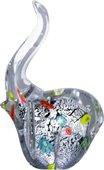 Фигурка стеклянная Серебряный слонёнок 10.5x15.5см Top Art Studio ZB1532-TA