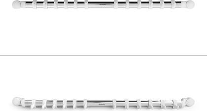 Настенный держатель-рейлинг Brabantia Profile, 12 крючков, 54.5см, белый-нержавеющая сталь 337161