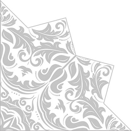Салфетки звезда Волшебная звезда серебро 32см, 3 слоя, 20шт Paw SDH010008