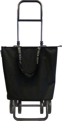 Сумка-тележка Rolser MF Mini Bag, 4 колеса, складная, чёрная MNB017negro