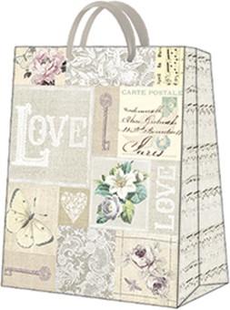 Пакет подарочный бумажный Paw LOVE 20x25x10см AGB1000403