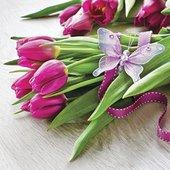Салфетки Тюльпаны, 33x33, 20шт Paw SDL085600