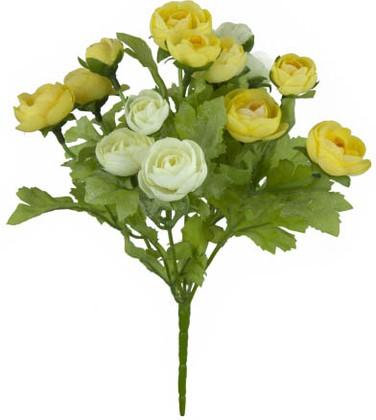 Цветок искусственный Ранункулус жёлтый 22см Floralsilk 12490CR-Y