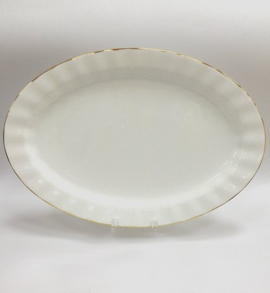 Блюдо овальное Золотая лента, ф. Нега ИФЗ 80.70483.00.1