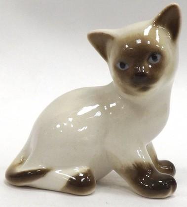 Статуэтка Котёнок Парамоша Сиамский, 5см, фарфор ИФЗ 82.50503.00.1