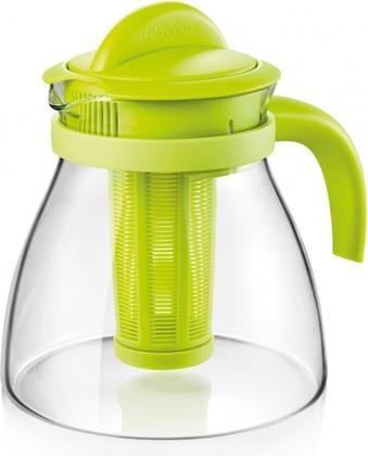 Чайник заварочный Tescoma Monte Carlo 1.5л, с настаивателем, зелёный 647110.25