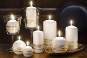 Свеча Золотые кольца, колонна 6x13см Bartek Candles 5907602663693