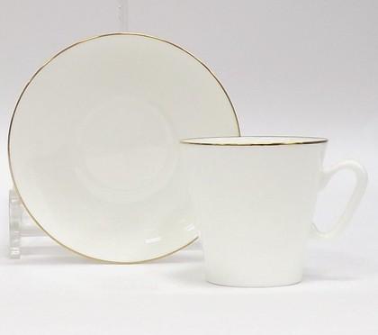 Чашка с блюдцем Золотой кантик, ф. Чёрный кофе ИФЗ 81.14441.00.1