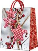 Пакет подарочный бумажный Paw Зимняя рябина 26.5x33.5x13см AGB019805